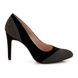 Gamuza Zapatos Clarks Tamaño D mujer para brillantes Damas siempre negra Tacones 8 altos npxO68wqxg
