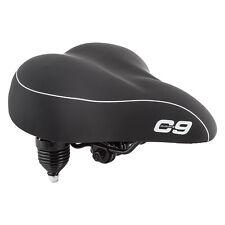 Sunlite Cloud-9 Bicycle Suspension Cruiser Multi-Stage Foam Bike Saddle Black