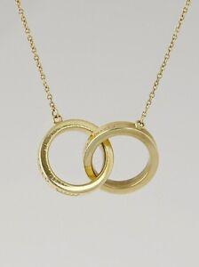 Tiffany 18k gold interlocking circles necklace worn 3 times image is loading tiffany 18k gold interlocking circles necklace worn 3 aloadofball Gallery