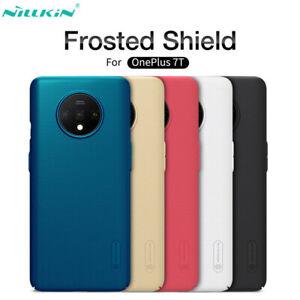 Pour-OnePlus-7-T-7-Pro-6-T-Nillkin-Super-Frosted-Matte-Slim-dur-PC-arriere