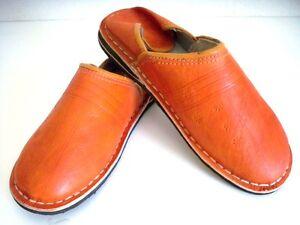 Babouche Marocaine cuir cousues chaussure mule chausson sandale