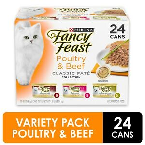 Grain Free Pate Wet Cat Food Variety Pack,Poultry&B