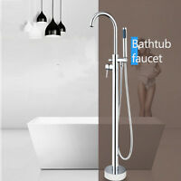 Us Modern Shower Sets Faucet Bathroom Mixer Chrome Rainfall Toilet Free Standing