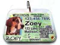 Wisconsin Driver License Vanity Dog Driver Cat Pet Driver Tag Photo Id Custom