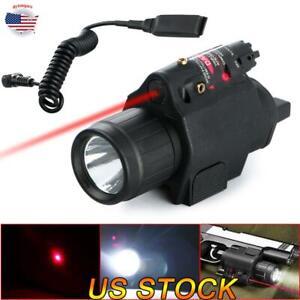 LED-Tactical-Flashlight-GREEN-RED-Dot-Laser-Sight-Combo-Picatinny-Mount-Rail-US