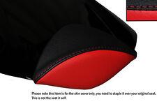 Negro Y Rojo Custom encaja Honda Cbr 1000 Rr 08-12 Fireblade Cuero almohadilla cubierta