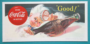 INK-BLOTTER-1956-Drink-COke-Coca-Cola-Bottle-Elfin-Sprite-Boy