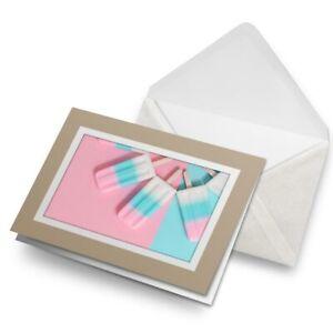 Greetings-Card-Biege-Funky-Ice-Lollies-Fun-Summer-3889