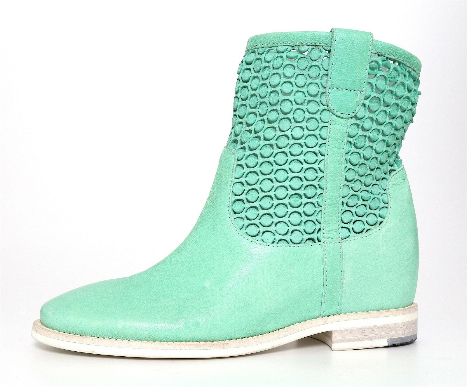 Aquatalia By Marvin K. Slouchy Mid Calf Leather Boot Green Women Sz 6.5 5173 *