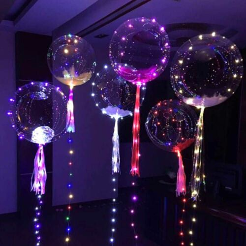 1pcs LED Balloons Clear String Lights Helium Wedding Birthday Party Decorations