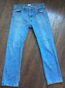 34 Jeans Distressed Button Wash Levis Denim Vtg X Jean Bleu Grunge 36 Light 501 wYqfnnzxTB