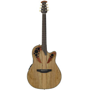 Ovation-Celebrity-Elite-Exotic-Acoustic-Electric-Guitar-Spalted-Maple