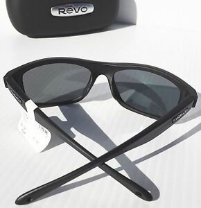 b31ed2938b4 NEW  REVO HARNESS Matte Black w Mirror Grey POLARIZED Lens Sunglass 4071 11  ST