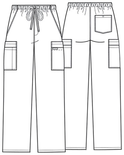Olive Green Cherokee Scrubs Workwear Core Mens Drawstring Cargo Pants 4243 OLVW