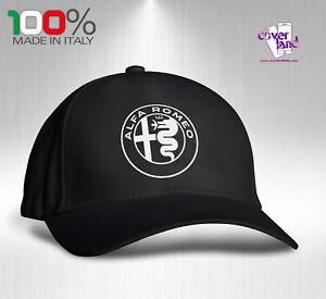 Cappello-Berretto-Hat-Cappellino-Houston-5-pannelli-NERO-ALFA-ROMEO