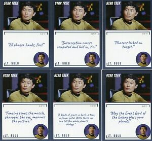Star-Trek-TOS-Archives-amp-Inscriptions-card-6-Lt-Sulu-all-11-different-variations