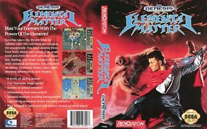Elemental-Master-Sega-Genesis-Replacement-Box-Art-Case-Insert-Cover