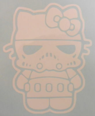Hello Kitty Storm Trooper Star Wars, Car, Wall,Vehicle, Vinyl Sticker Decal