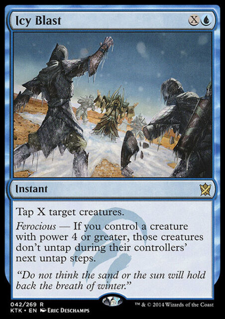 ICY BLAST NM mtg Khans of Tarkir Blue - Instant Rare