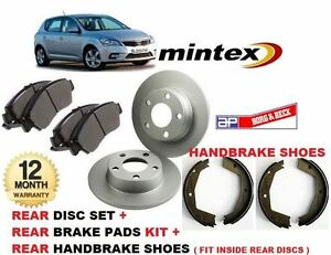 for kia ceed 10 2006 2012 rear brake discs disc pads hand brake shoes kit. Black Bedroom Furniture Sets. Home Design Ideas