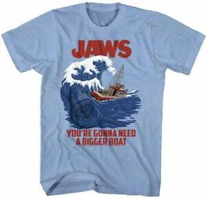 Jaws-You-039-re-Going-To-Need-A-Bigger-Boat-Adult-T-Shirt-Great-Classic-Movie