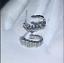 1Ct-Round-Cut-VVS1-D-Diamond-Push-Back-Hoop-Earrings-Solid-14K-White-Gold-Finish thumbnail 2