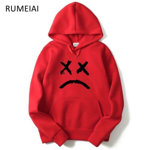 Mens Fashion Pink Red Blue Long Sleeve Hoodies Hip Hop Hoodie Hooded Sweaters