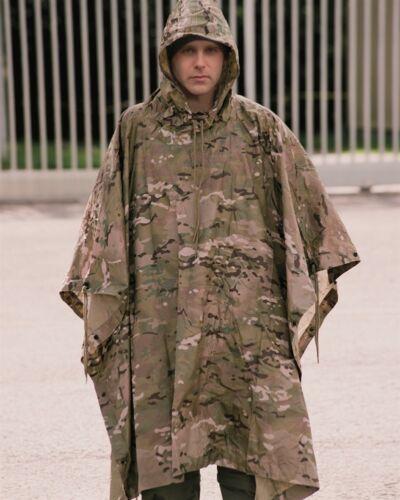 US Regenponcho multitarn RIPSTOP Poncho Army Nässeschutz Regenschutz MTP Tarp