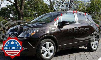 Chrome Pillar Posts fit Buick Encore 13-15 12pc Set Door Trim Mirrored Cover Kit