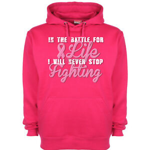 Hoodie Race Breast Awareness Run Life Pink Charity Hoody Howomens Ribbon Cancer 4fqf0