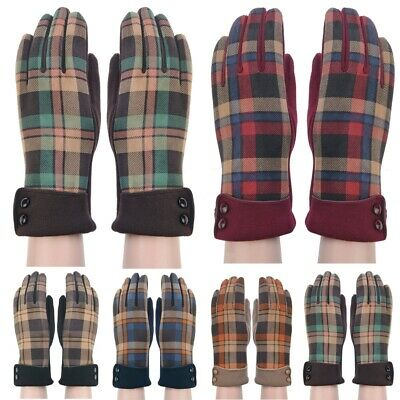 Winter Gloves Suede Warm Cosy Soft Fleece Lined Driving Gloves for Ladies Women