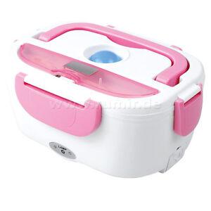 lunchbox f r essen elektrisch brotdose mittagessen brotzeit box dose thermo rosa ebay. Black Bedroom Furniture Sets. Home Design Ideas