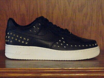 New! WOMENS NIKE AIR FORCE 1 '07 XX LOW 'STAR STUDDED' Shoes AR0639 001 BLACK | eBay