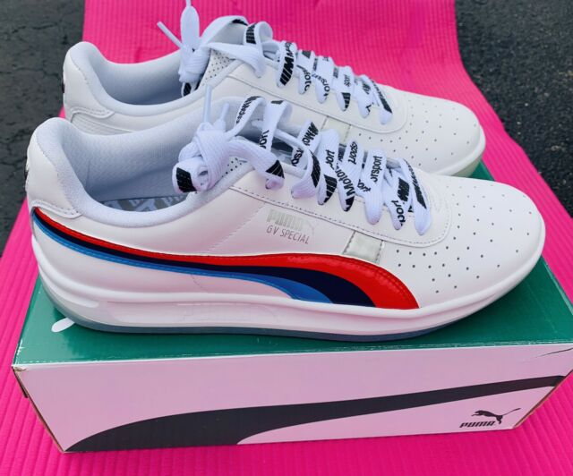 PUMA BMW MMS GV Special 1 Men's Shoes Size 9-13 white/red/blue 339993 01