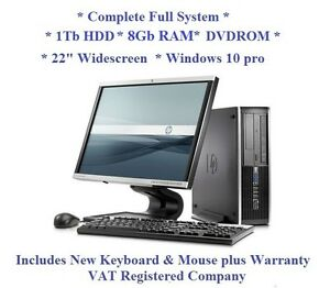 Windows-10-Full-System-22-034-Monitor-HP-Core-2-Duo-1Tb-8Gb-Computer-Desktop-PC