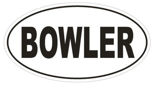 BOWLER Oval Bumper Sticker or Helmet Sticker D1910 Euro Oval