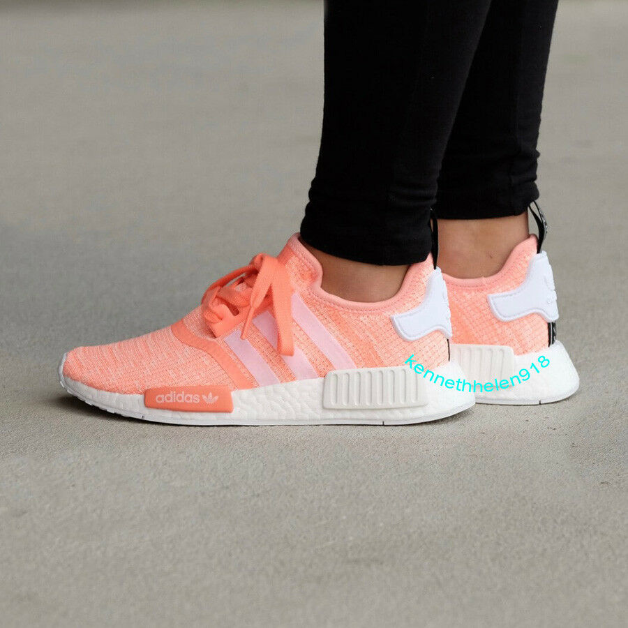 NEW ADIDAS NMD R1 W SUN GLOW SHOES BY3034 WOMENS SIZE 6,7