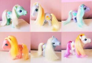 Vintage 2002 Set My Little Pony G2 & G3 Ponies Hasbro Lot Moon Sunny Daze Minty