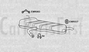 EXVW6156-EXHAUST-SILENCER-TAIL-PIPE-CLAM-SHELL-3Yr-Warranty
