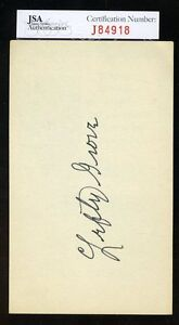 Lefty-Grove-Signed-Jsa-Certified-3x5-Index-Card-Authentic-Autograph