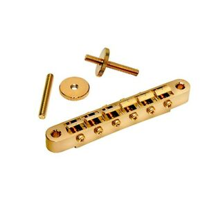 Chevalet-Gotoh-Classic-ABR1-M4-Post-Gibson-style-TuneOMatic-Bridge-Gold-GE104B