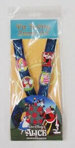 Disney-Pin-Parks-Alice-in-Wonderland-Trading-Neck-Lanyard-Starter-Set-w-4-Pins
