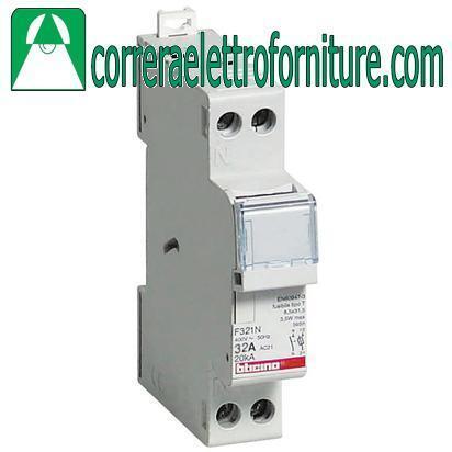 Portafusibile sezionabile 1P+N 32A BTICINO F321N