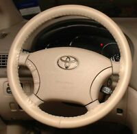 Sand Leather Steering Wheel Cover For Toyota Wheelskins Size Ax