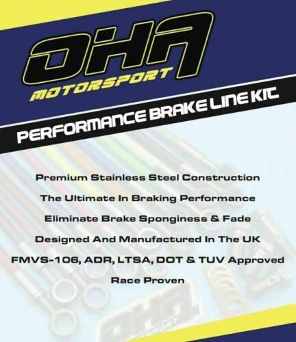OHA Stainless Braided Front Brake Line Kit for Honda NX650 Dominator 650 88-91