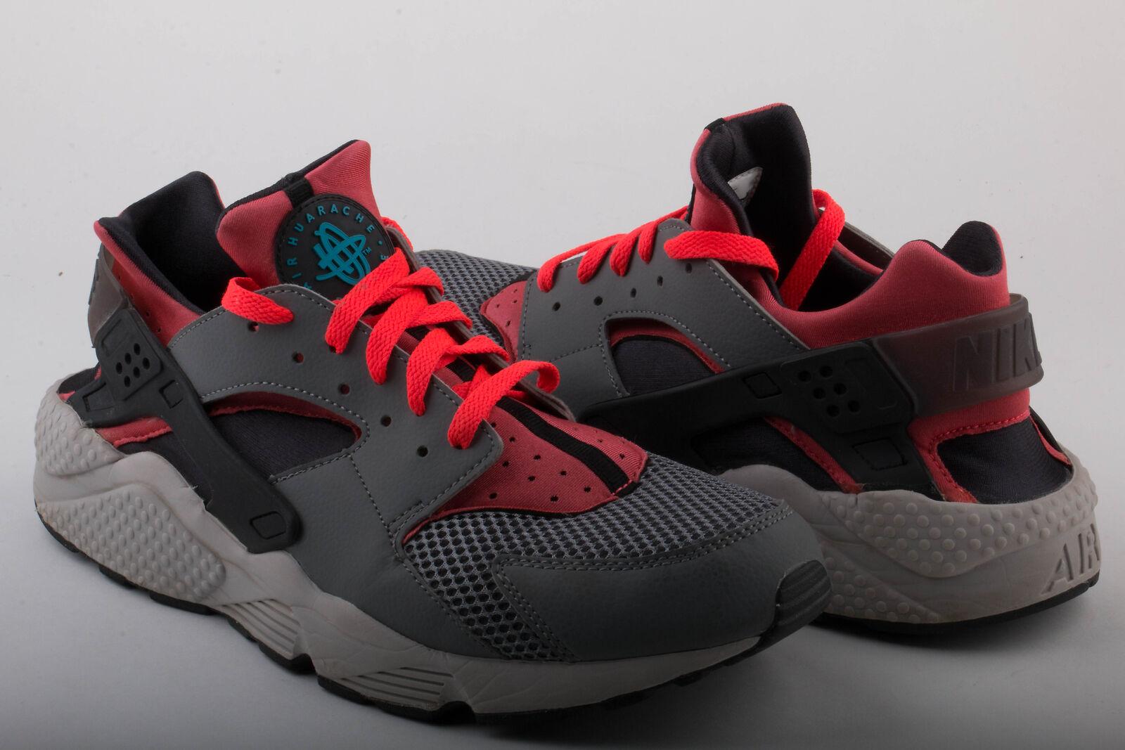 Nike Mens Air Huarache Grey/Crimson 318429-009 Size 11