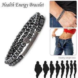 Magnetic-Hematite-Stone-Bead-Bracelet-Health-Care-Magnet-Men-Charm-Jewelry-G-3C