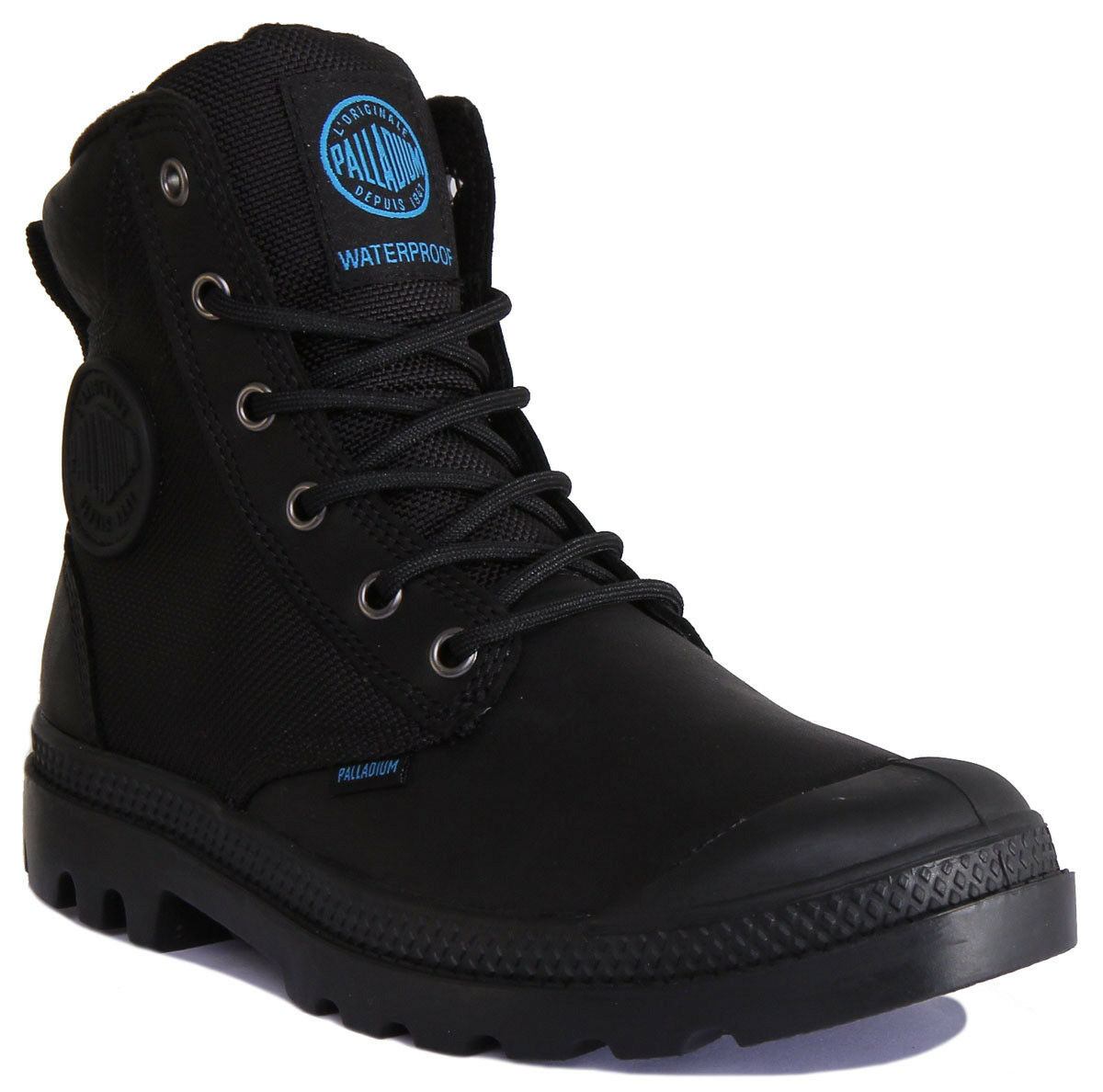 Palladium Pampa Sport Cuff WPN Women Leather Canvas Black Boots Size