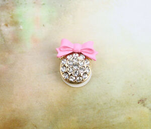 3PCS-Pink-Bowknot-Rhinestone-Beaded-Round-Home-Button-Stickers-for-1Phone-Pad