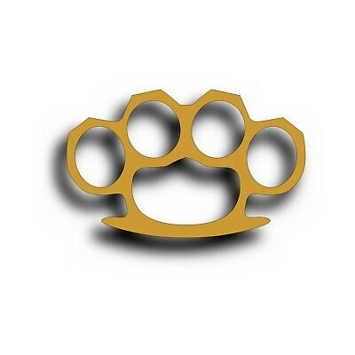 "Brass Knuckles UFC MMA Car Decal Laptop Sticker 4/"" WHITE"